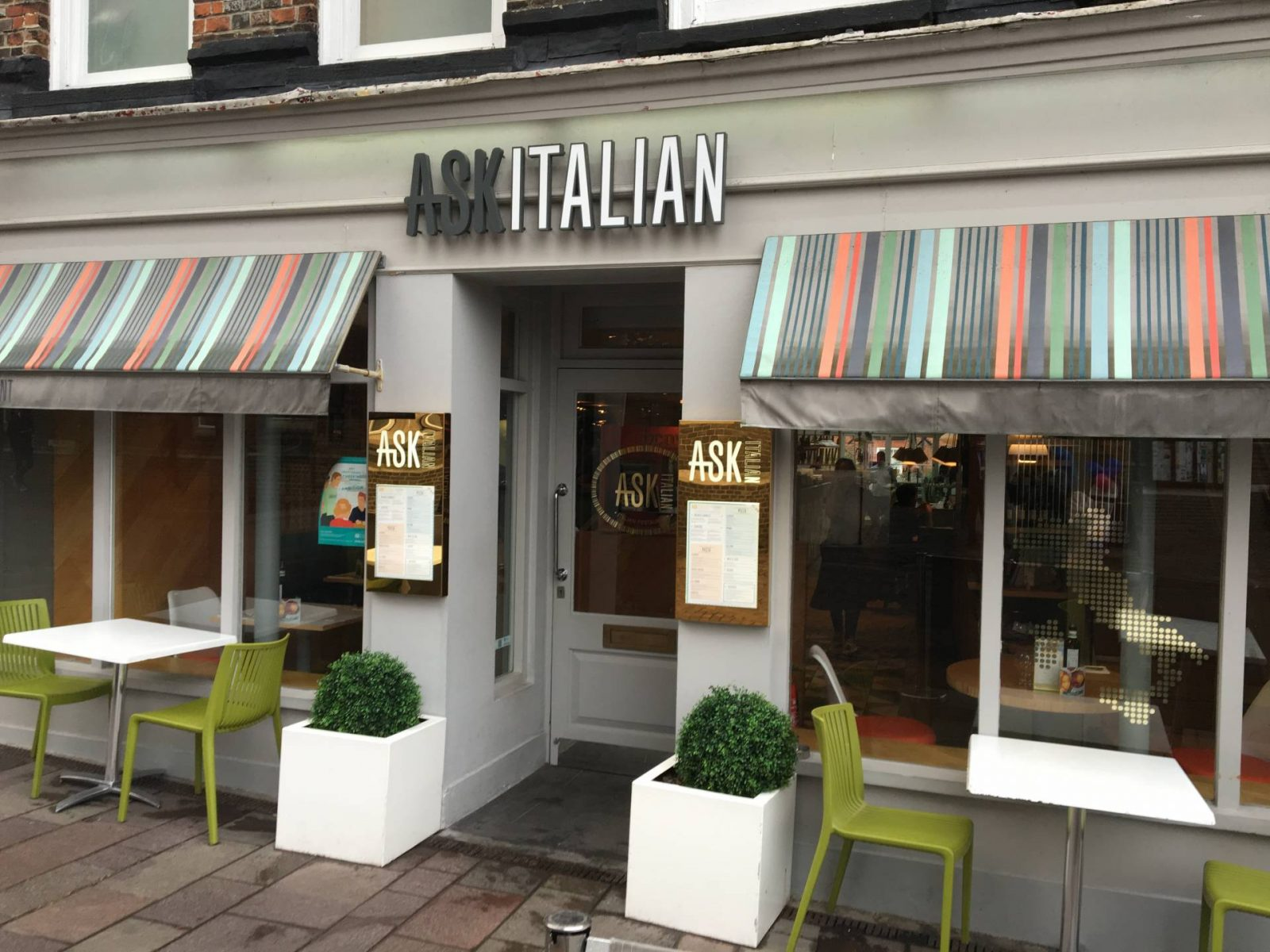 A Family Meal Out At ASK Italian…