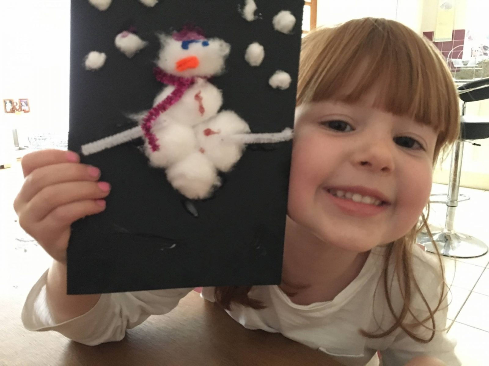 Homemade Snowman Christmas Card…