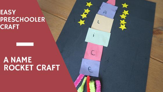 A Name Rocket Craft For Preschoolers…