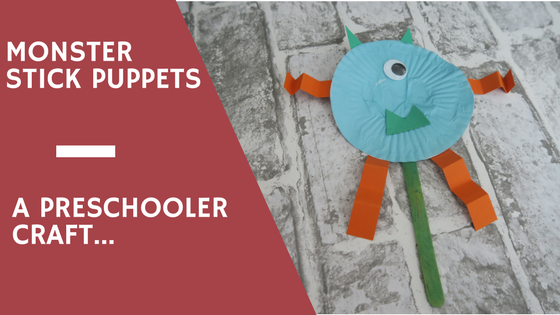 Preschooler Monster Stick Puppet Craft…