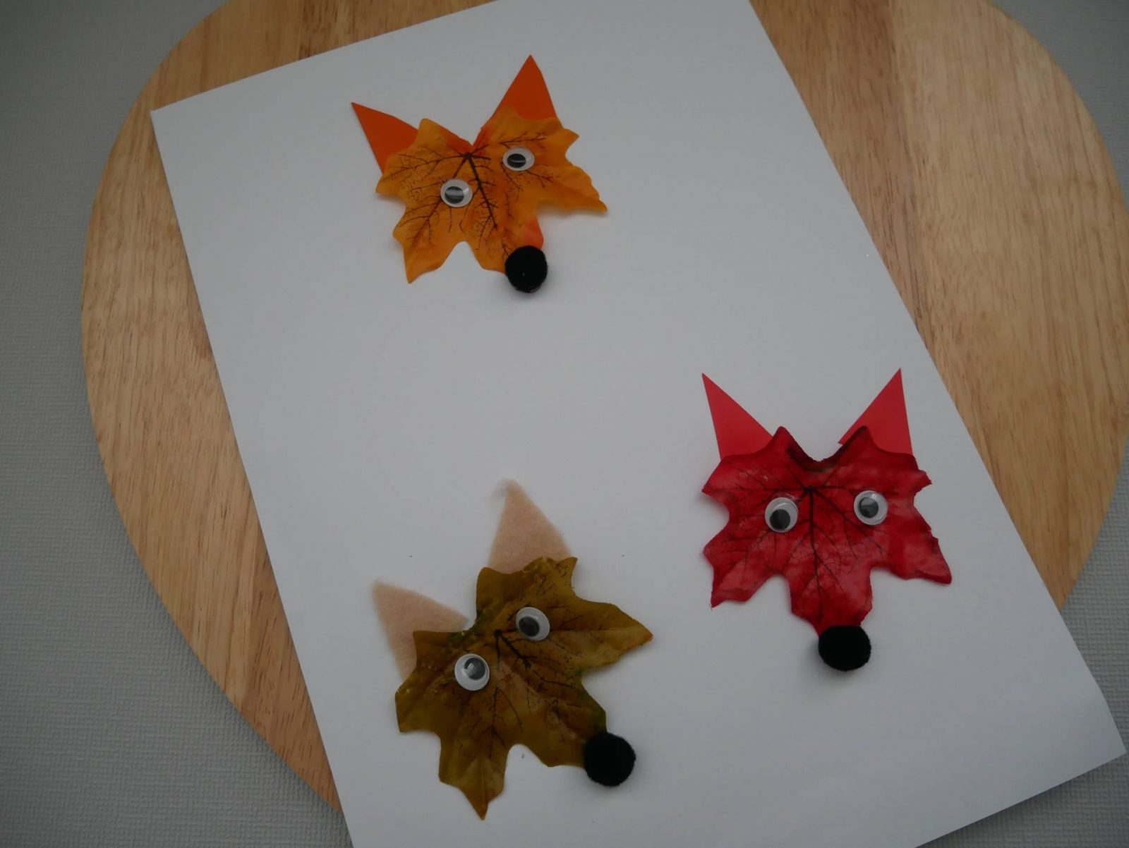 fox leaf craft autumn craft for children leaf foxes dear and beany 2045