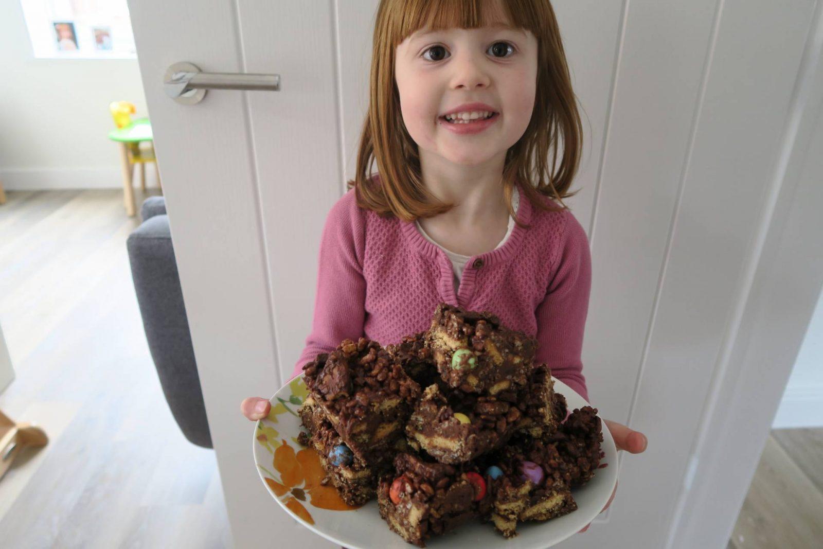 Easter Crispy Chocolate Fridge Cake…