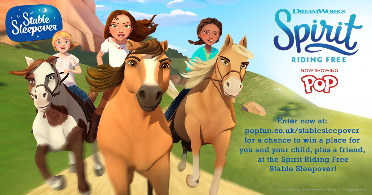 Spirit Riding Free…A Stable Sleepover Competition!